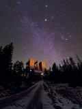 Winter Stars the Milky Way and Jupiter Over the Large Binocular Telescope Photographic Print by Babak Tafreshi