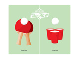 Beer Pong Prints by J.J. Brando