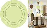 Peapod Green Concentric Dot Wall Decal Sticker Wall Decal