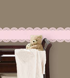 Gigi Pink Stripe Wall Decal Sticker Wall Decal