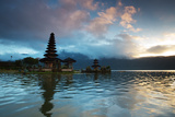 The Pura Ulun Danu Bratan Temple at Sunrise Photographic Print by Alex Saberi