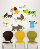 Puppy Love Wall Art Decal Kit Wall Decal