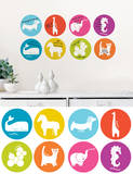 Managerie Dry-Erase Weekly Dots Wall Decal Sticker Wall Decal