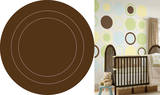 Espresso Brown Concentric Dot Wall Decal Sticker Wall Decal