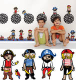 Argh Pirates Blox Wall Decal Sticker Wall Decal