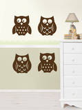 Owl Silhouettes Espresso Brown Wall Decal Sticker Wall Decal