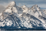 The Grand Teton, Mt. Owen, and Mt. Teewinot in Winter Photographic Print by Greg Winston