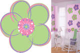 Poppies Green Flower Wall Decal Sticker Wall Decal
