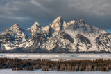 Winter Sunrise on the Teton Range and Snake River Photographic Print by Greg Winston