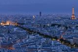 Stephen Alvarez - A Panoramic View of the City of Paris, France Fotografická reprodukce