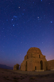 The Constellations of Orion and Taurus at Dawn Over Sasan Palace Ruins Photographic Print by Babak Tafreshi