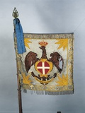 Flag of Colonel of Italian Cavalry School, 19th Century Photographic Print