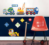Construction Zone Wall Art Decal Kit Wall Decal
