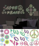 Peace Love Flowers Wall Decal Sticker Appliques Wall Decal