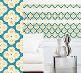 Elephant Paisley Stripe Wall Decal Sticker Wall Decal