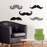 Mustache Small Wall Art Decal Kit Wall Decal
