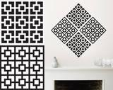 ブラック&ホワイトブロックウォールステッカー・壁用シール ウォールステッカー