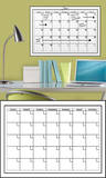 White Dry-Erase Calendar Wall Decal Sticker Wall Decal