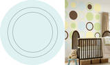 Baby Blue Concentric Dot Wall Decal Sticker Wall Decal