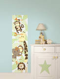 Jungle Friends Growth Chart Wall Decal Sticker Wall Decal