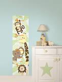 Jungle Friends Growth Chart Wall Decal Sticker Adesivo de parede