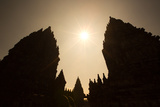 The Towers of the Hindu Prambanan Temples in Central Java Photographic Print by Alex Saberi