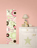Butterfly Garden Growth Chart Wall Decal Sticker Wall Decal