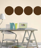 Espresso Brown Dot Wall Decal Sticker Wall Decal