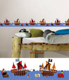 Argh Pirates Stripes Wall Decal Sticker Wall Decal