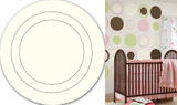 Ivory White Concentric Dot Wall Decal Sticker Wall Decal