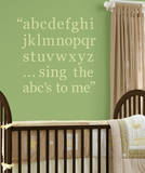 Peapod Green Alphabet Set Wall Decal Sticker Wall Decal