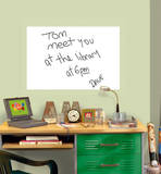 White Dry-Erase Message Board Decal Sticker Wall Decal