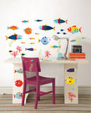Fish Tales Wall Art Decal Kit Wall Decal