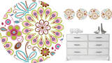 Kaleidoscope Dot Wall Decal Sticker Wall Decal