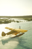 A PA18 Super Cub Floatplane at Conception Island Photographic Print by Jad Davenport
