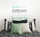 Cherish Dream Live Wall Decal Sticker Quote Kalkomania ścienna