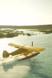 A PA18 Super Cub Floatplane at Conception Island Fotografisk tryk af Jad Davenport