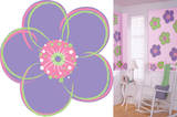 Poppies Purple Flower Wall Decal Sticker Wall Decal