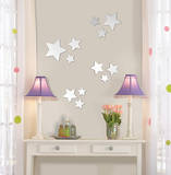 Stars Wall Mirror Decal Sticker Adhésif mural