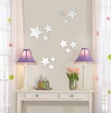 Stars Wall Mirror Decal Sticker Kalkomania ścienna