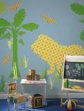 Ozzie the Lion ZooWallogy Wall Art Kit Wall Decal