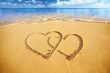 Beach Hearts Foto