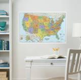 USA Dry-Erase Map Wall Decal Sticker Kalkomania ścienna