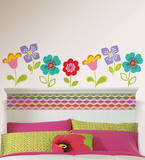 Petals Die-Cut Flowers Wall Decal Sticker Decalques de parede