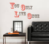 YOLO - You Only Live Once Wall Decal Sticker Quote Wall Decal