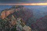 Sunlight Illuminates Grand Canyon Cliffs at Cape Royal Photographic Print by Derek Von Briesen
