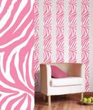 ゼブラストライプ(ピンク)ウォールステッカー・壁用シール ウォールステッカー