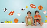Junior Varsity Dots Wall Decal Sticker Wall Decal