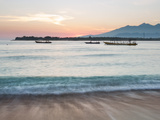 The Sea Laps Up on the Sand in Gili Trawangan at Sunrise Photographic Print by Alex Saberi