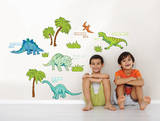 Dinosaur Expedition Wall Art Decal Kit Wall Decal